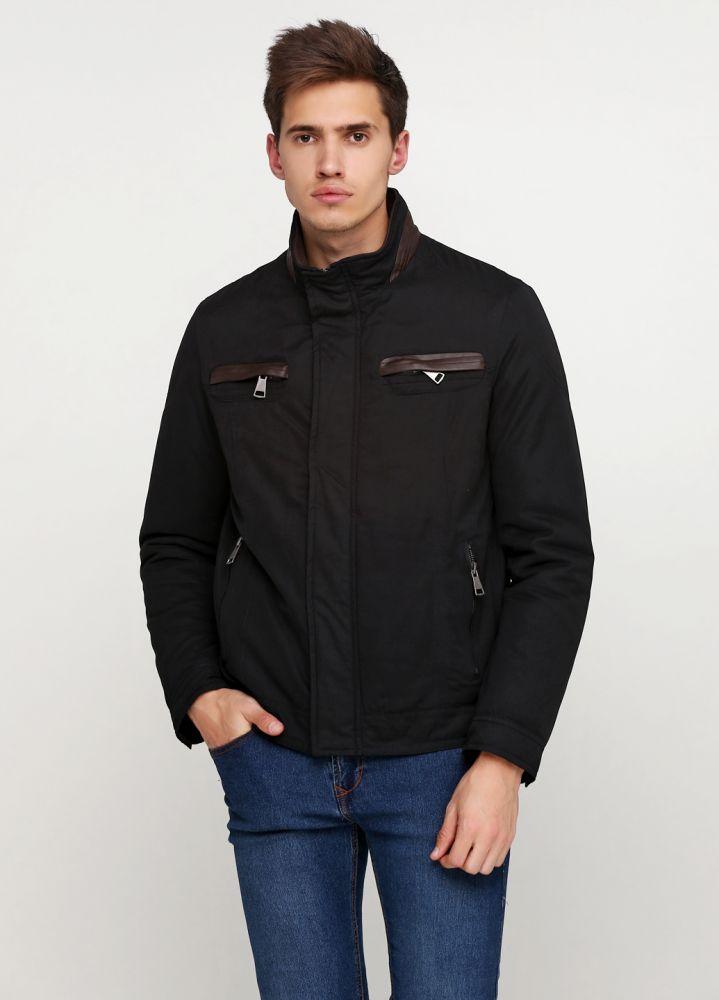 Курточка мужская демисезонная Thomas Goodwin черная с коричневыми вставками