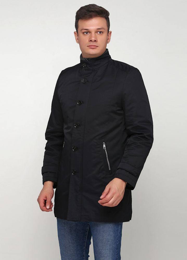 Курточка мужская демисезонная Thomas Goodwin черная удлиненная (3)