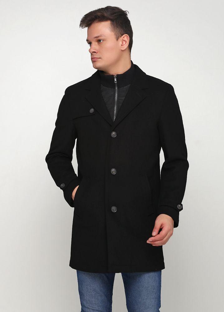 Пальто мужское демисезонное Thomas Goodwin черное