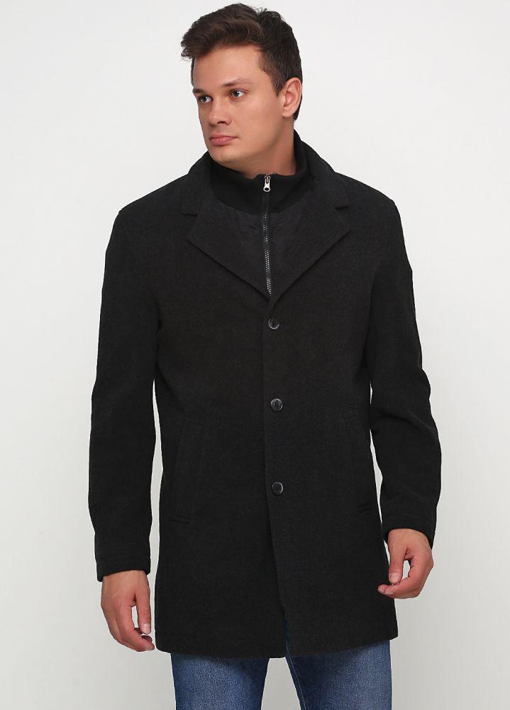 """Пальто мужское темно-серое """"Yorn"""""""