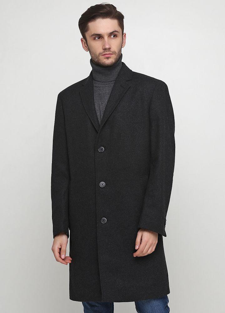 Пальто мужское A.W. DUNMORE удлиненное темно-серое