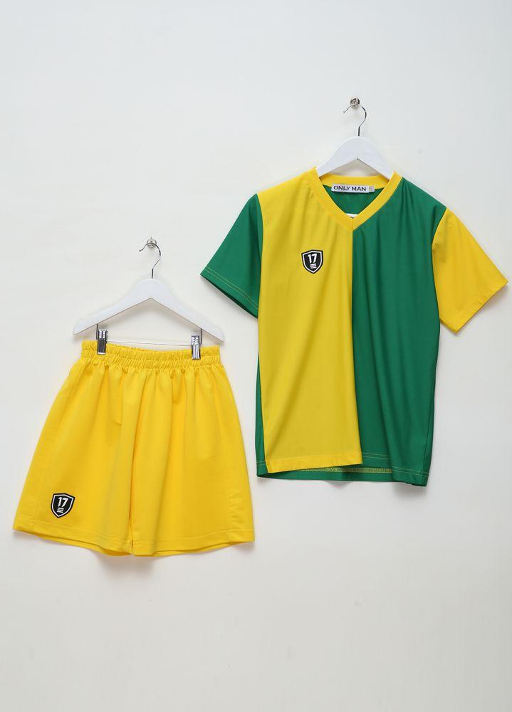 Спортивная форма для мальчиков Only Man желто-зеленая