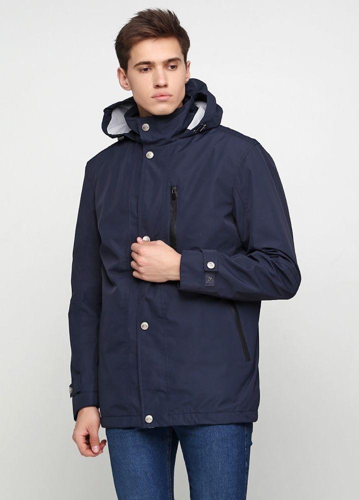 Курточка мужская 2 в 1 JP темно-синяя с зеленой безрукавкой-пуховиком