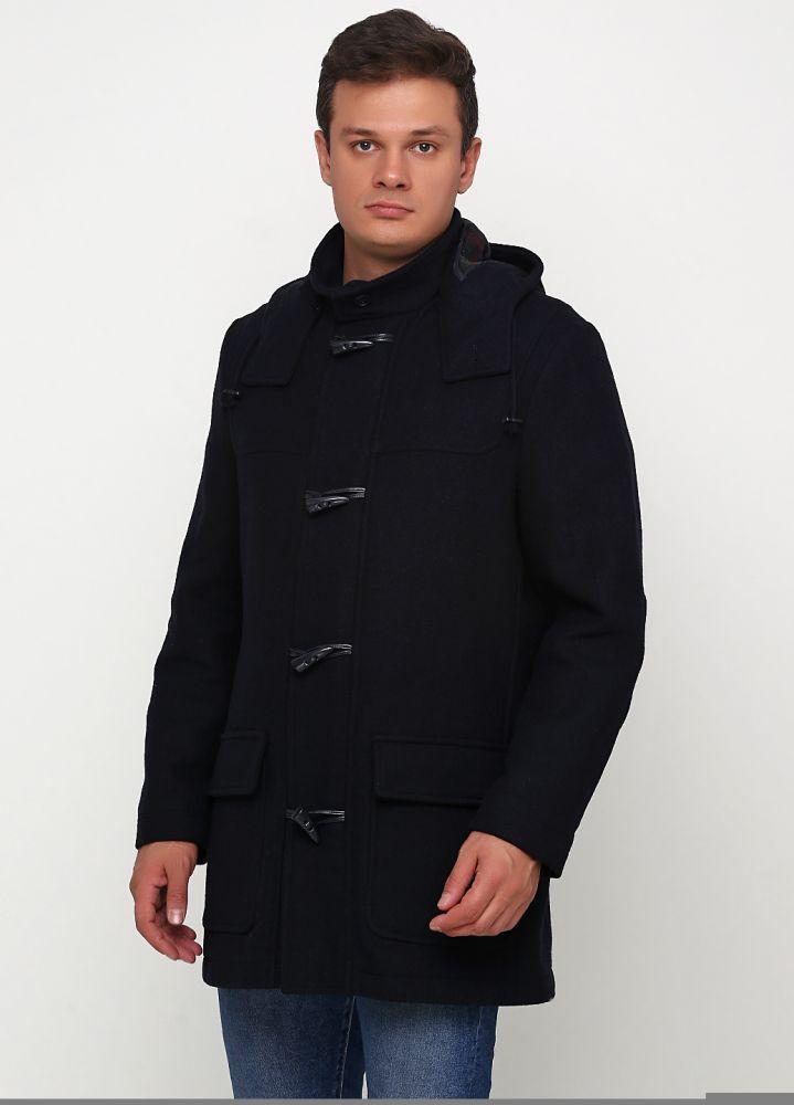 Пальто мужское JOHANN POPKEN темно-синее с капюшоном