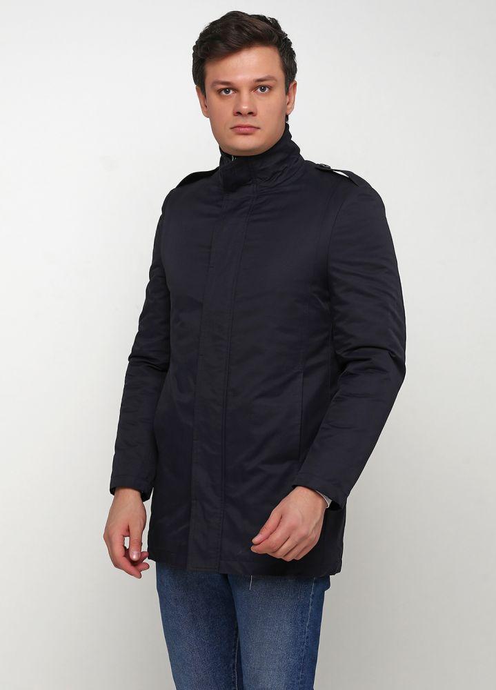 Куртка мужская демисезонная ANGELO LITRICO темно-синяя удлиненная
