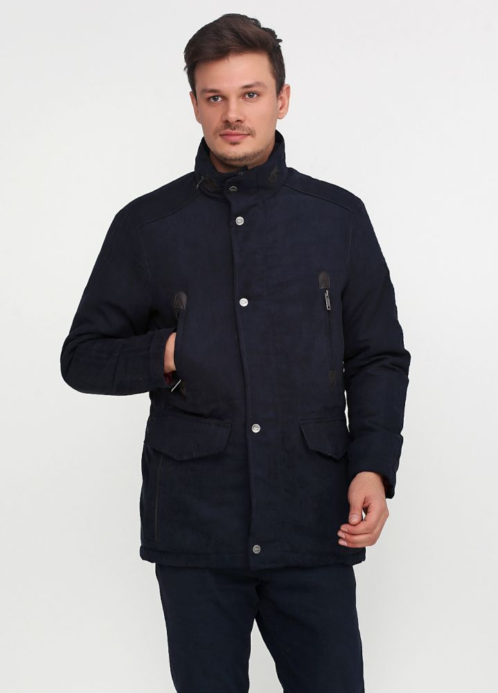 Куртка мужская демисезонная Paul R. Smith темно-синяя (замш)