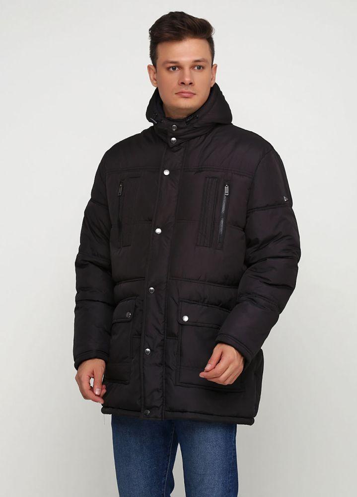 Курточка мужская зимняя Paul R. Smith черная с капюшоном