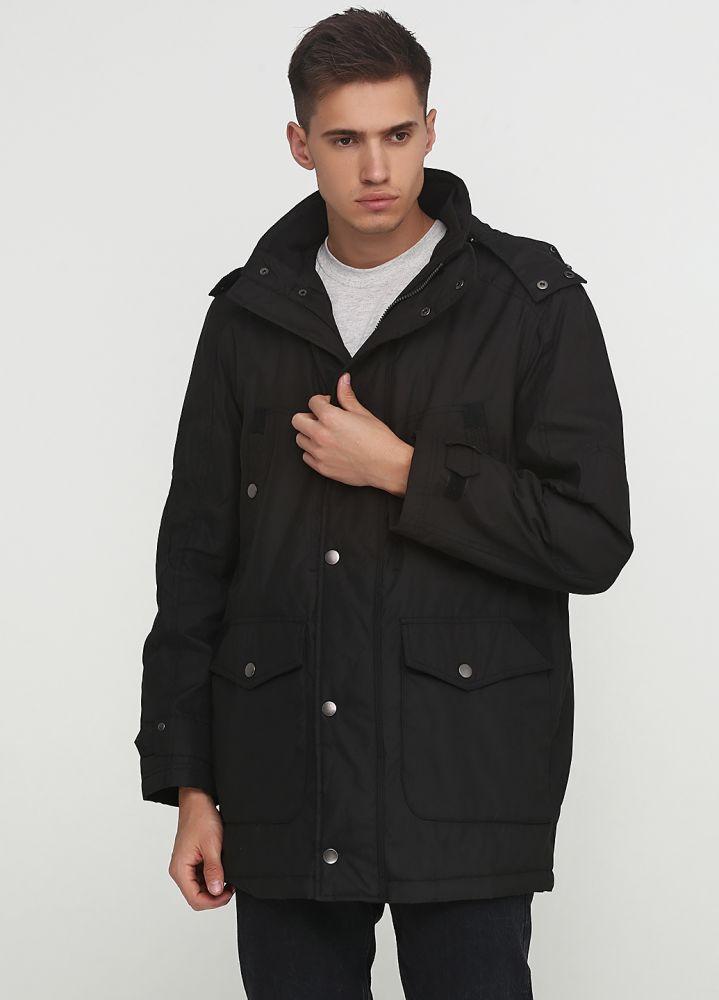 Курточка мужская демисезонная Carlo Comberti черная с капюшоном