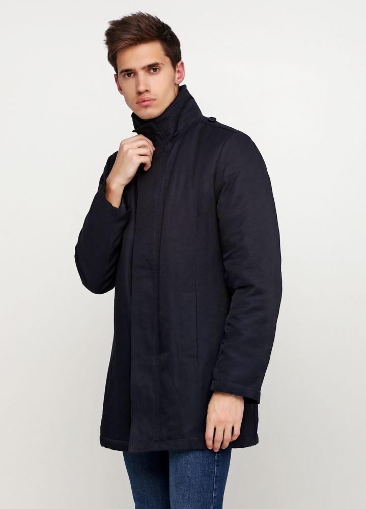 Курточка мужская демисезонная Class черная удлиненная